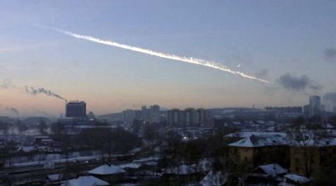meteor yang jatuh di rusia
