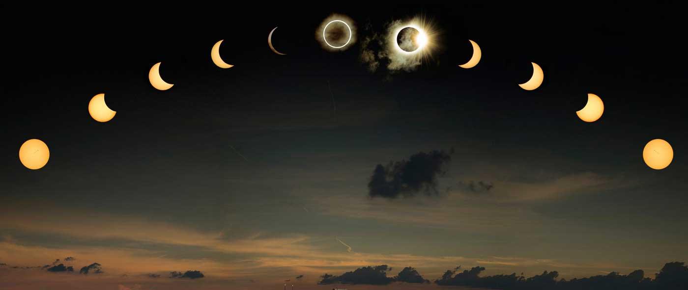 Terjadinya dan mitos gerhana matahari